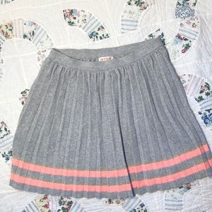 Cat & Jack Pleated Gray & Peach Skirt Sz.10-12